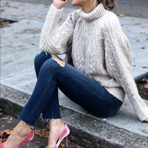 VGT Cable Knit Fisherman Sweater